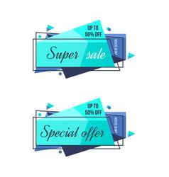 Super sale mega sale special offer discounts vector