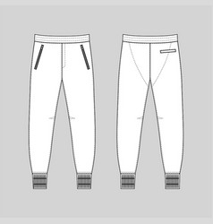 sweatpants man template front back views vector image