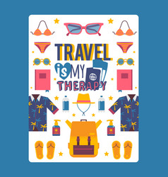 travel inspiration poster vector image