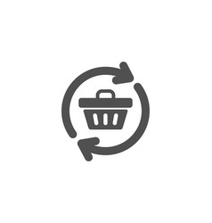Update shopping cart simple icon online buying vector