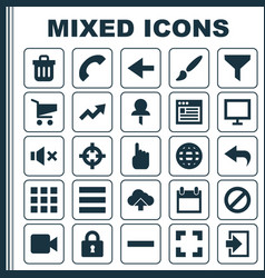User icons set collection of screenshot earth vector