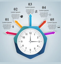 watch clock icon abstract infographic vector image