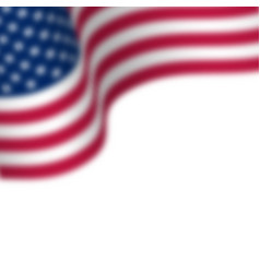 waving flag of usa with blur effect place for vector image