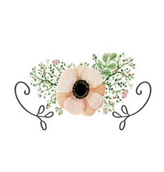 Wedding poppy flower vector