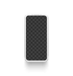 white smartphone mockup electronics device vector image