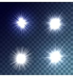 White suns set vector