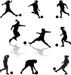 womanfootball vector image