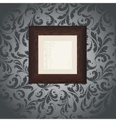 wood frame wallpaper vector image