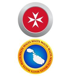 button as a symbol MALTA vector image