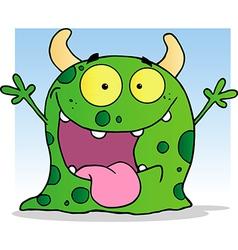 Happy Little Monster Cartoon Character vector image