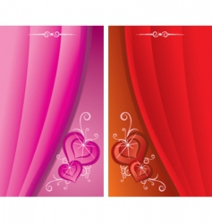 red cards vector image vector image