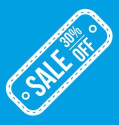 Sale tag 30 percent off icon white vector