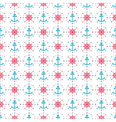seamless sea background of anchors and hand wheels vector image vector image