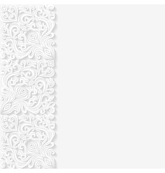 Abstract background with floral pattern vector image