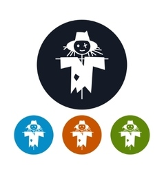 Four Types of Round Icons Scarecrow vector image vector image