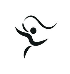 gymnastics activities icon fitness community vector image vector image