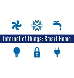 Iot - smart home vector