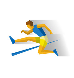 obstacle race runner track-and-field athletics vector image vector image