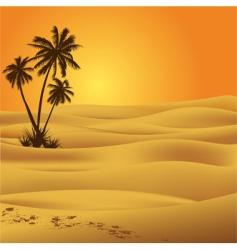 sahara desert vector image vector image