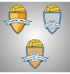 Set water polo logo for the team and the cup vector image vector image
