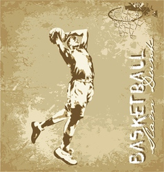 slam dunk basketball vector image vector image