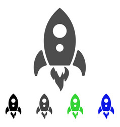 startup rocket flat icon vector image vector image