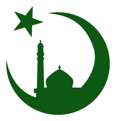 Symbol of Islam and mosque ramadan vector image