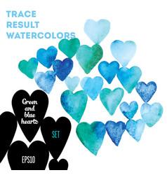 watercolor hearts vector image vector image