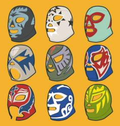 wrestling masks vector image