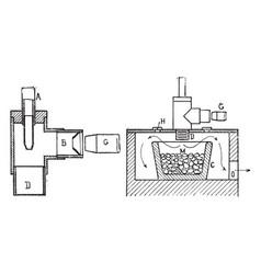 crucible furnace for melting metal vintage vector image