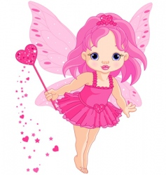 cute little baby love fairy vector image vector image