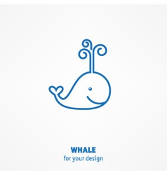 Cute whale icon vector image vector image