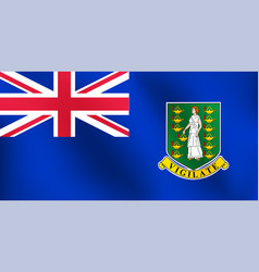 flag of british virgin island - vector image vector image
