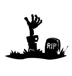 Hand reaching from the grave vector image