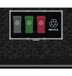 Recycling Advertising board vector image vector image