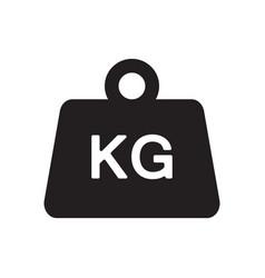 weight kilogram icon vector image