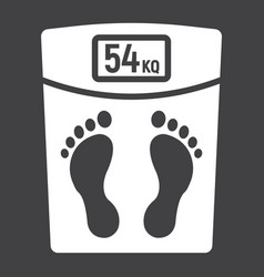 weight scale glyph icon fitness and sport vector image vector image