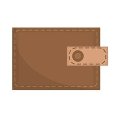 Brown wallet icon flat design isolated on white vector image