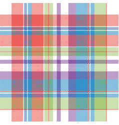 Color pixel check plaid seamless pattern vector