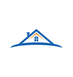 home realty construction logo image vector image