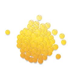 Orange pills isolated vector