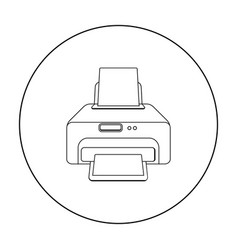 printer icon in outline style isolated on white vector image vector image