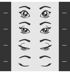 Set Elements of Female Eye Blink vector image vector image