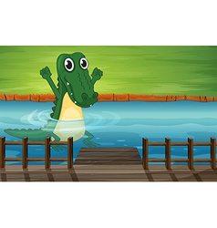 A crocodile vector