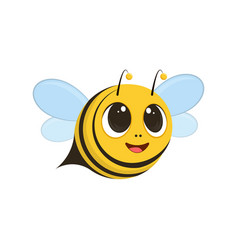 a cute bee flying and smiling vector image