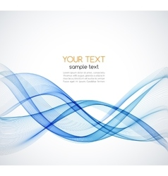 Abstract background blue wave vector image