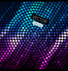 Abstract geometric disco background in bright vector