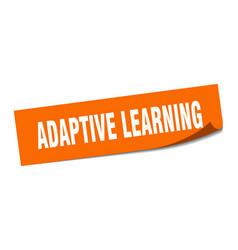 Adaptive learning sticker adaptive learning vector