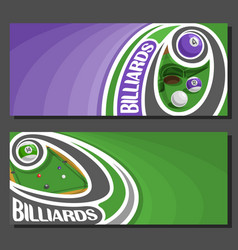 banners for billiards vector image