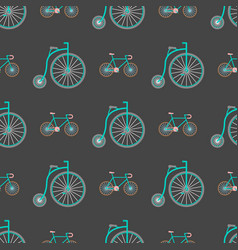 bicycles vintage style old bike seamless vector image